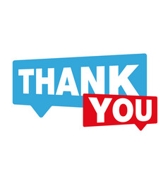 thank you speech bubble vector image