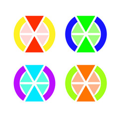 the emblem of triangles vector image vector image