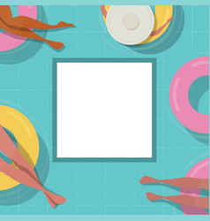 top view pool background people relaxing in the vector image