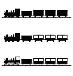 Train black silhouette vector
