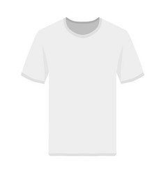 Tshirt front view template vector