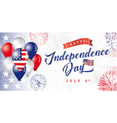 usa 4 july independence day vector image