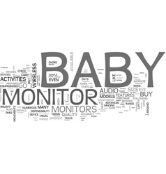 what to look for when you buy a baby monitor text vector image