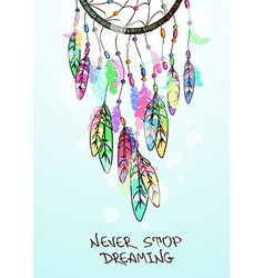 with American Indians dreamcatcher vector image