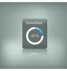 download button with loading vector image vector image