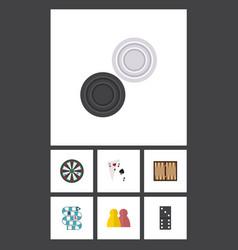 flat icon entertainment set of ace dice bones vector image vector image