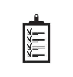 Flat icon in black and white form vector