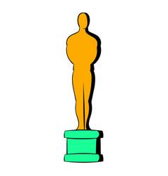 gold man statue icon icon cartoon vector image