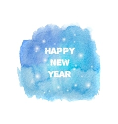 Happy New Year 2016 greeting card Bright blue vector image vector image