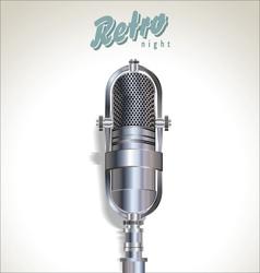Karaoke retro night background vector image vector image