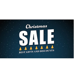 banner template background for Christmas sales vector image vector image