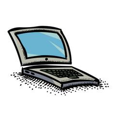 cartoon image of laptop icon computer symbol vector image vector image