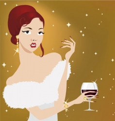 party woman vector image