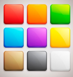 Set of Colorful Buttons Icons vector image