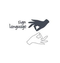 Sign Language Interpreting vector image