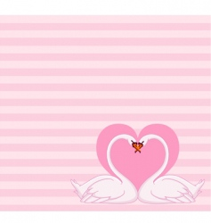 swans love letter vector image vector image