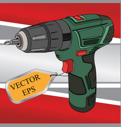 working construction tool vector image