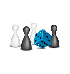 board game figures in black and white design vector image vector image