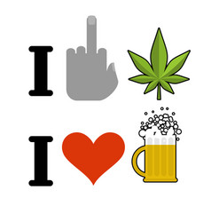 i hate drugs i like alcohol symbol of hatred vector image vector image