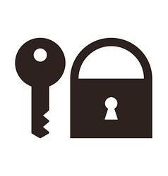 Key and padlock icon vector image