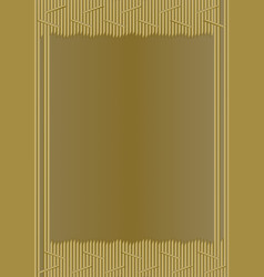 unusual gold frame in modern design composed of vector image vector image