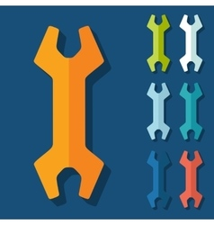 Flat design wrench vector image