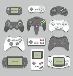 gamepad icon set vector image vector image