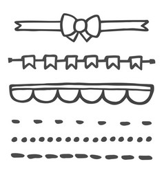 hand drawn set isolated on white background vector image vector image