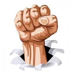 man fist vector image