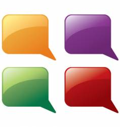 message balloons vector image vector image