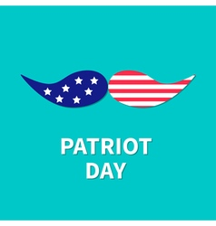 Patriot day mustaches Flat vector image vector image