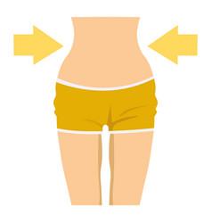 slim female waist icon vector image