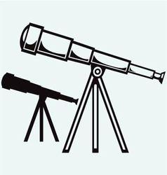 Telescope in tripod vector image vector image