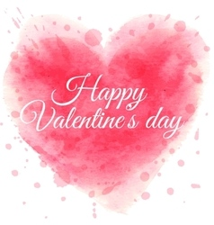 Valentine s day card with watercolor heart vector image