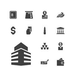 13 bank icons vector