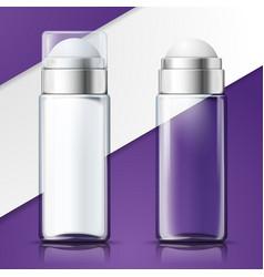 3d advert glass deodorant bottles vector image