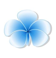 A fresh five-petal blue flower vector