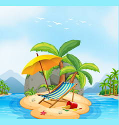 a summer beach island vector image