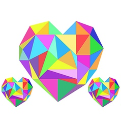 Abstract heart geometrical vector image