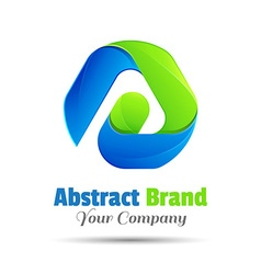 Abstract logo design template Business icon vector image vector image