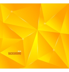 Abstract orange triangle background vector image