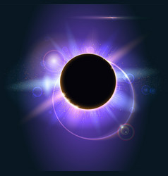 Abstract shining in space solar eclipse vector