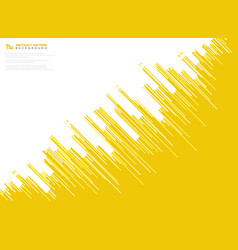 abstract yellow stripe line pattern design vector image