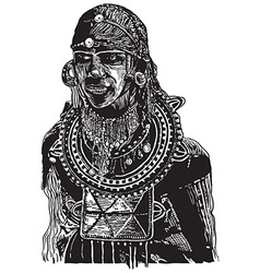 African - an hand drawn freehand vector