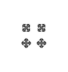 arrow shape or direction logo design concept vector image