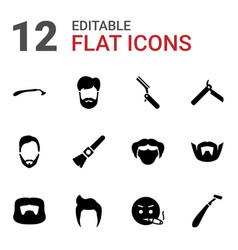 Beard icons vector