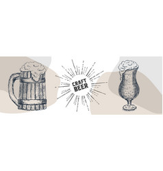 beer graphical objects used for festival vector image