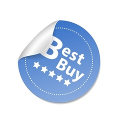 Best buy sticker vector image