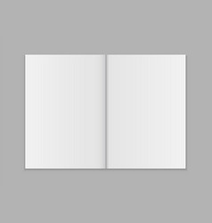 blank open magazine template vector image