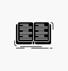 book education lesson study glyph icon isolated vector image